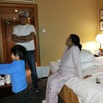 My wife, son & grandson in our room