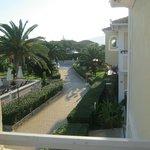 view from balcony towards reception