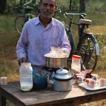 Very friendly chai wallah in Bandhavgarh Park. Very welcome at 7.30 am
