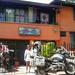 Welcome Motorcyclist to Palm Tree Hostel Medellin Colombia