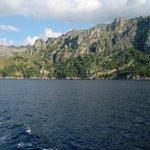 sierra de tramuntana from sea