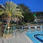 hotel swimming pool area