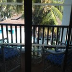 The Balcony of an ocean facing standard room