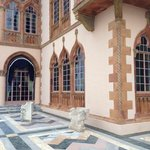 Marble courtyard at the Ringling House of John