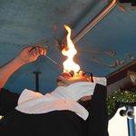 Fire breathing/eating nun