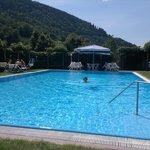 La piscina scoperta.....