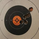 Not bad for my daughter's first shots on a 44 Mag handgun!