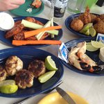conch fritters and crab cakes were good
