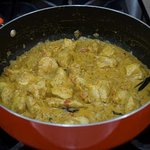 Chicken masala at a cooking class