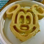 Breakfast: The Mickey Waffles, the best part of staying here!