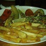 le poisson (kingfish) sauce à l'ail