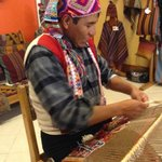 A highly skilled tapestry weaver from Pitumarca demonstrating his handwork.