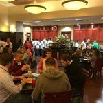 Enjoying a welcome dinner at Homewood Suites