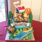 Santa Rosa Attractions Cake!