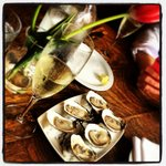 Oysters and Cava for lunch.