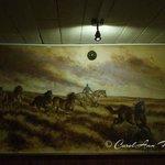 Mick Cawston mural - back room
