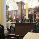 Dining in La Vie en Rose in the Astor House lobby