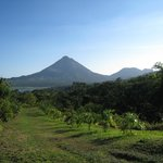 Arenal Volcano, viewed during the farm tour