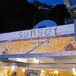Name Board of Sunset Taverna