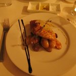 Chicken wrapped in ham with potatoes - dinner - YUMMY