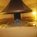 Fireplace pit in lobby