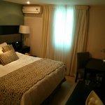 Pequena pero Comoda y bien decorada habitacion