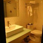 Bano, muy buena ducha, falto limpieza