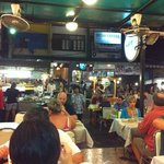 KO restuarant, looking out to the night market