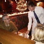 Jeremy serves the Billy Miner pie