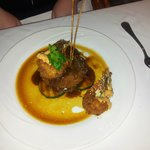Steak and prawns
