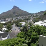 the view from the balcony on the mountain Lion's Head