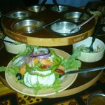 Salad Set and Choice of Meat Sauce where you can make your choice