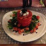 Salade de fêta et melon d'eau