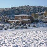 Azienda bio agrituristica Ficareto con la neve