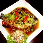 poisson avec une sauce aigre doux