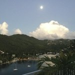 A little piece of paradise.  The view from the pool deck, overlooking Marigot Bay.