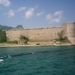 Castle ramparts from the sea