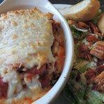Lasagna Entree with Caesar Salad