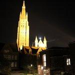 Вид из окна ночью