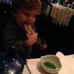 Special Amuse Bouche for the kids...green ice cream