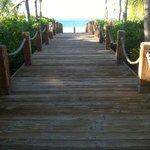 Walkway from hotel to beach