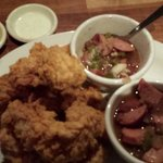 Chicken Tenders with double side of the BEST rice & beans you will have outside of New Orleans!!
