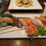 Sushi entrée - fresh and delicate flavors