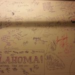 Signature wall in the Greenroom