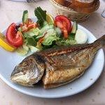 Yummy grilled sea bass!