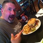 The big Louie burger !! A one pound super delicious burger !! Has to be the best burger I ever a