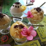 all the sorbet ice cream is nice! try the durian if ur durian lover
