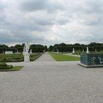 Vista dos jardins Herrenhauser Garten