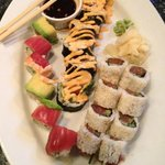 Rainbow Roll - Shrimp Tempura Roll - Spicy Tuna Roll