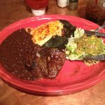 Steak and poblano pepper